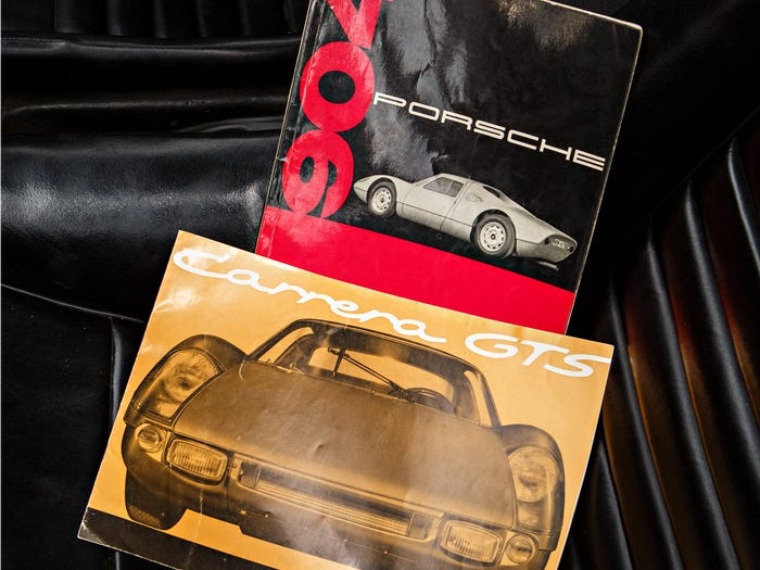 1964 Porsche 904 Carrera GTS Original Manuals