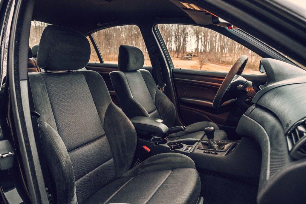 Black-and-gray cloth 2003 BMW E46 330i ZHP interior