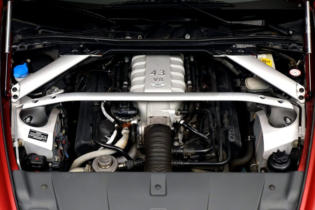 2007 Aston Martin V8 Vantage engine bay
