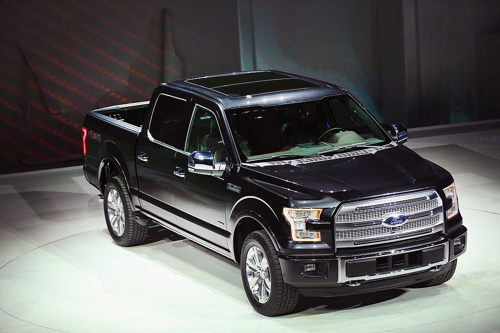 Ford introduces the new F-150 pickup truck at the North American International Auto Show on January 13, 2014