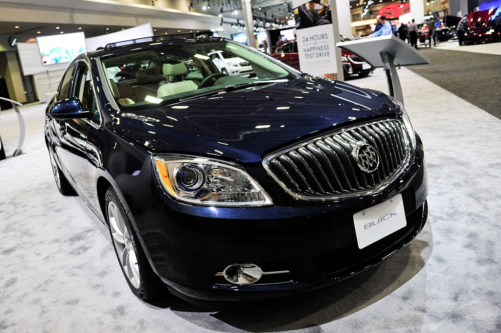 A 2016 Buick Verano on display at an auto show