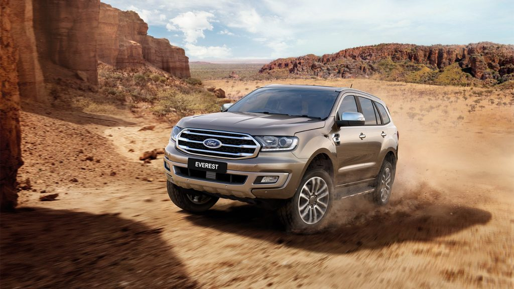 A Ford Everest on the trails in Australia