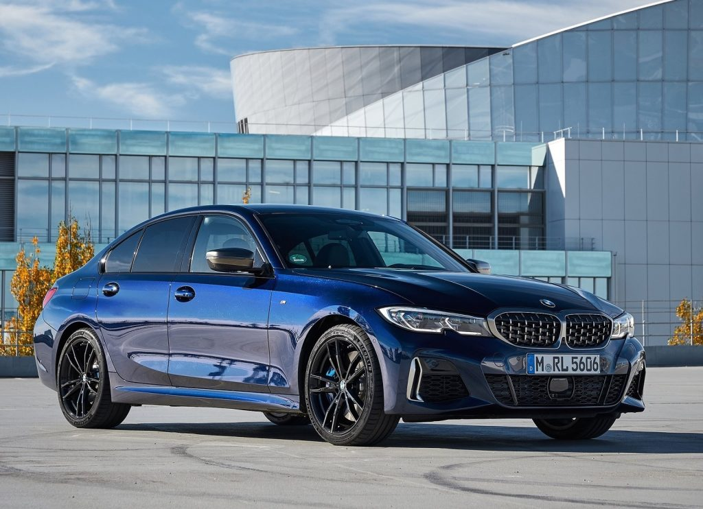 Dark blue 2020 BMW M340i xDrive sedan