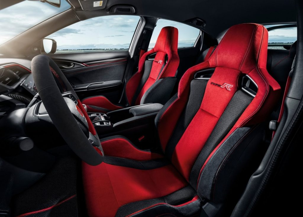2020 Honda Civic Type R red sport seats
