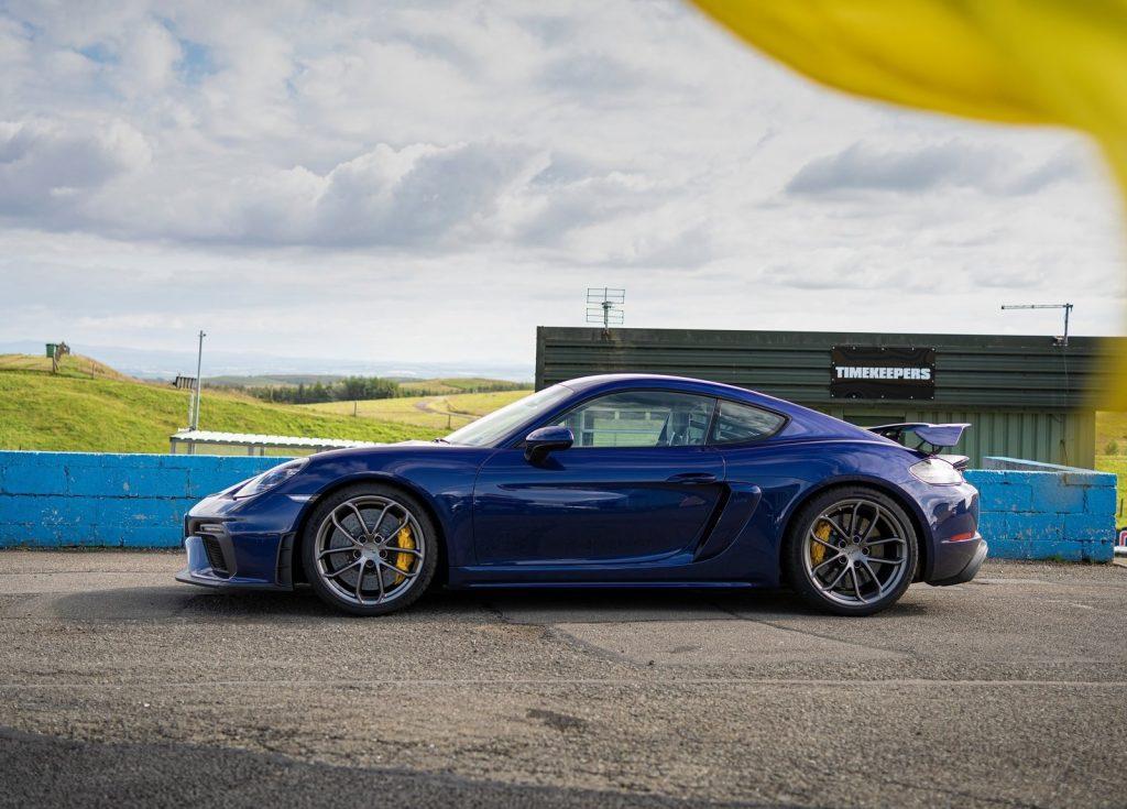 2020 Porsche Cayman GT4 side