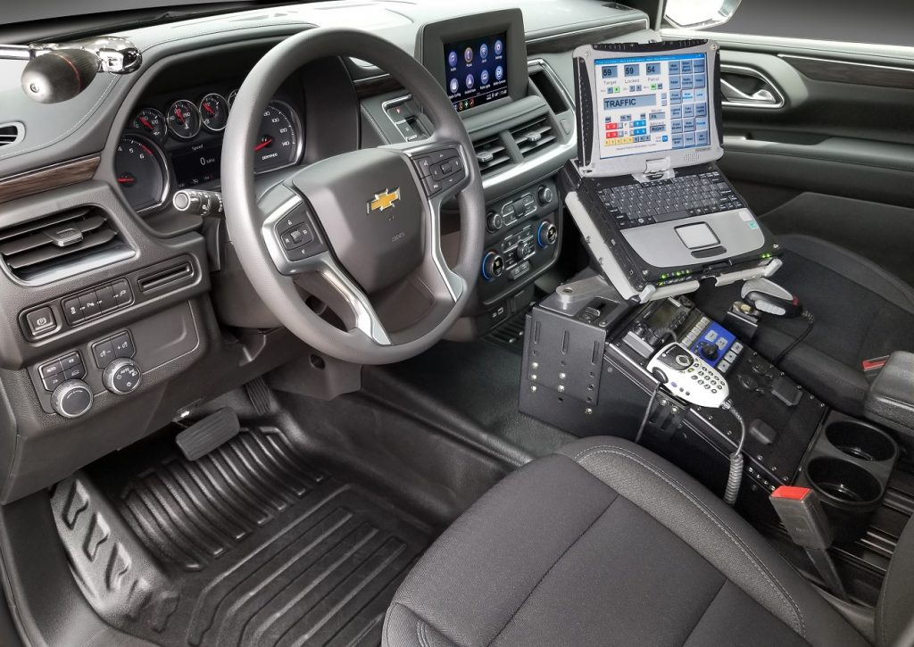 2021 Chevrolet Tahoe Police Pursuit Vehicle SUV interior