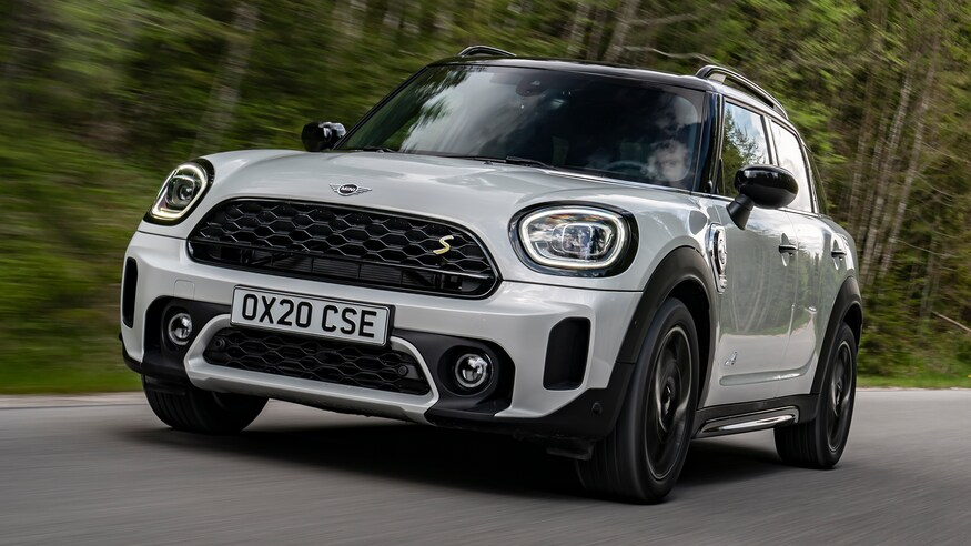 New 2021 Mini Countryman on the open road.