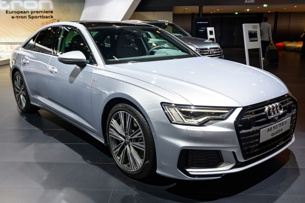 Audi A6 50 TFSI e qauttro on display at Brussels Expo