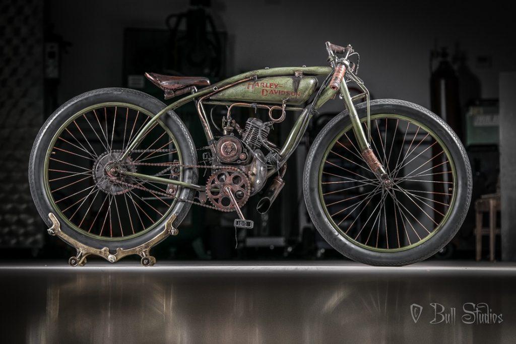 Bull Cycles Harley-Davidson Peashooter board track racer