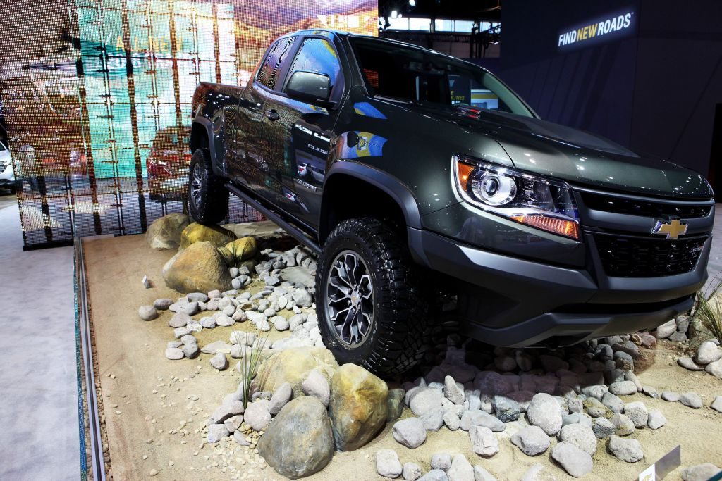 2017 Chevrolet Colorado is on display at the 109th Annual Chicago Auto Show