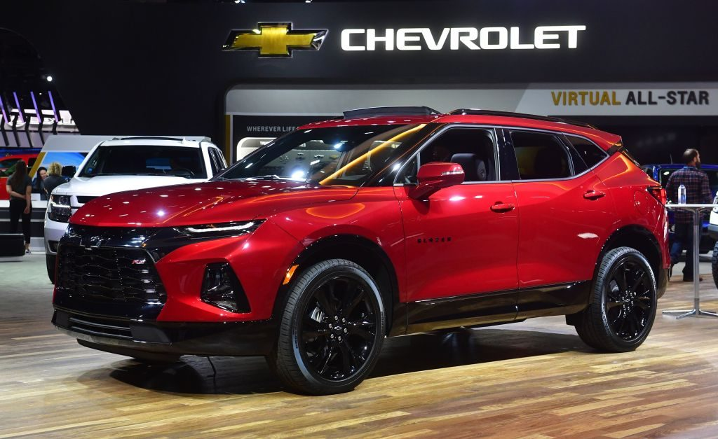 The all-new Blazer SUV from Chevrolet on display at the 2019 Los Angeles Auto Show