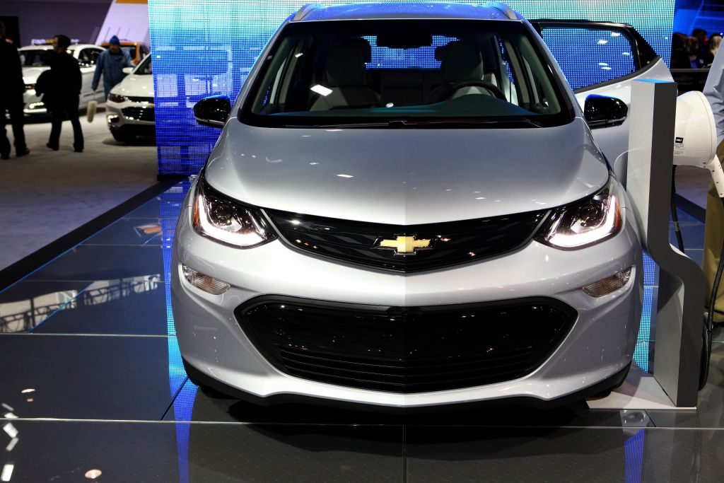 2017 Chevrolet Bolt EV is on display at the 109th Annual Chicago Auto Show at McCormick Place