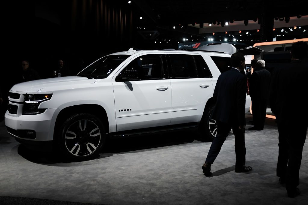 The 2018 Chevrolet Tahoe RST is displayed at the New York International Auto Show