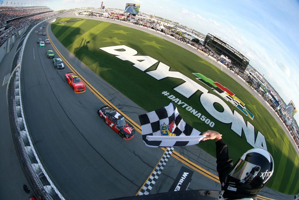 Crossing the Finish Line at Daytona