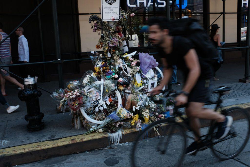 Cyclist memorial New York City