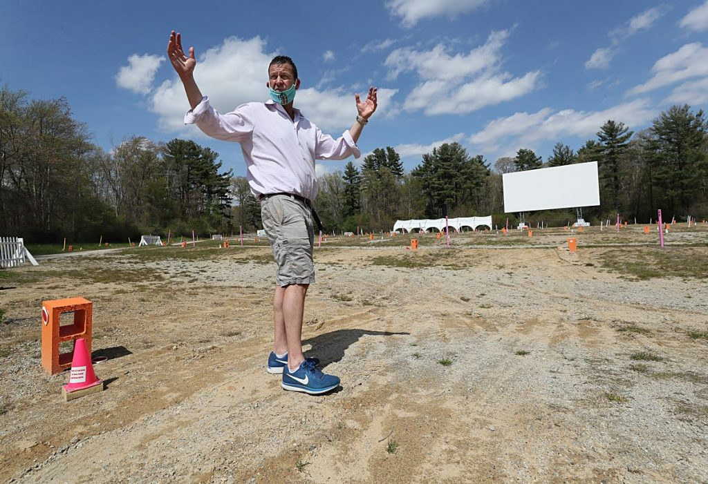 Drive-in owner prepares to reopen after COVID-19 lockdown.