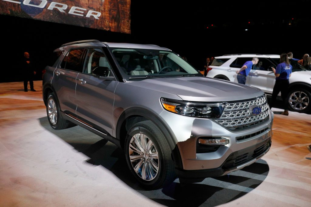 The new 2020 Ford Explorer SUV is revealed at Ford Field on January 9, 2019 in Detroit, Michigan
