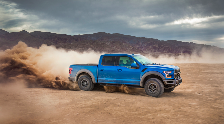Ford F-150 Off-Roading through dirt