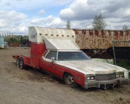 Cadillac Eldorado turned into a car hauler