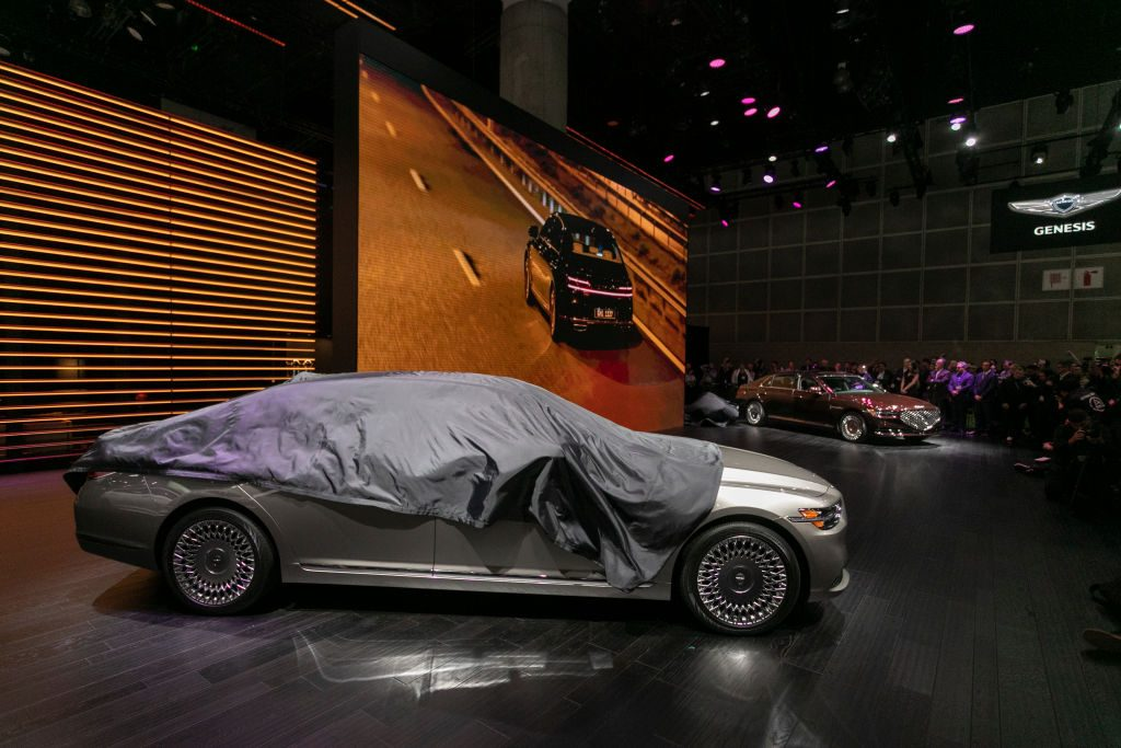 The Genesis G90 is unveiled at AutoMobility LA on November 20, 2019 in Los Angeles, California