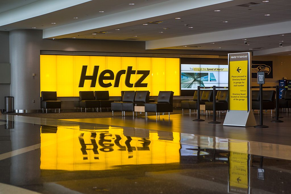 Hertz Rental Counter