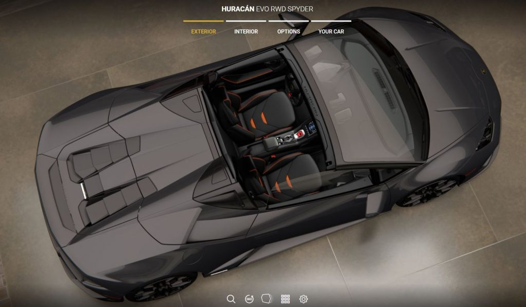 Huracan EVO RWD Spyder From The Top