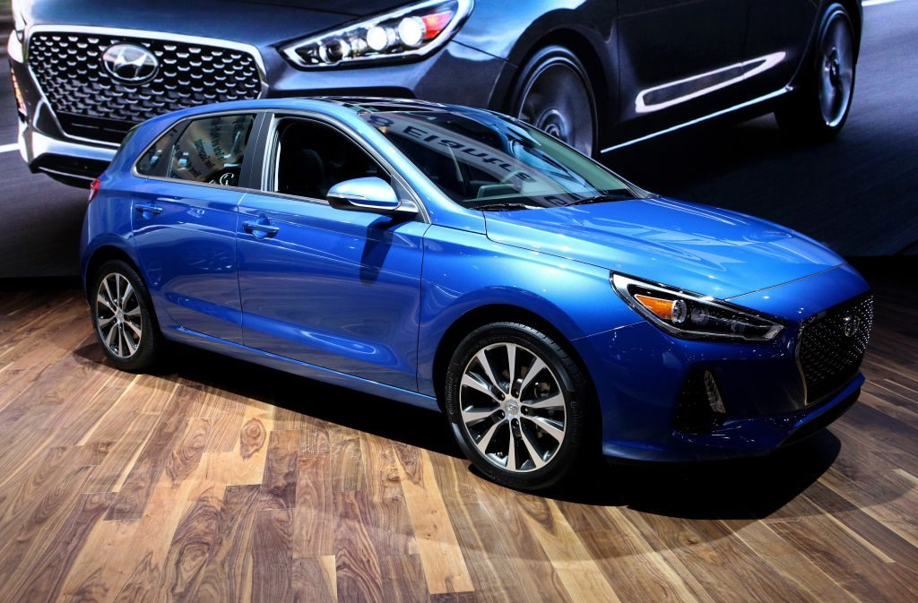 2018 Hyundai Elantra GT is on display at the 109th Annual Chicago Auto Show at McCormick Place