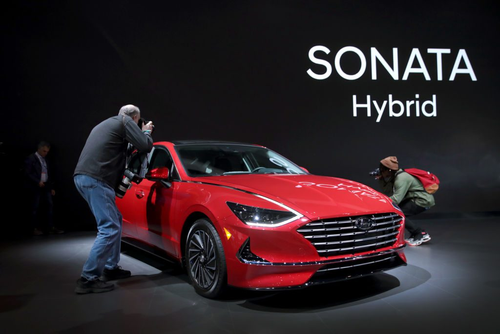 Hyundai shows off their 2020 Sonata Hybrid at the Chicago Auto Show