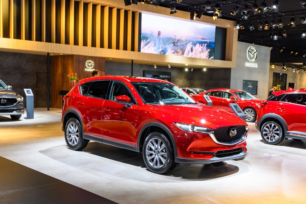 MAZDA CX-5 compact crossover SUV on display at Brussels Expo