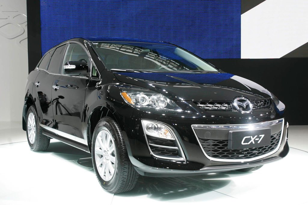 A Mazda CX-7 car is seen at the Auto Show