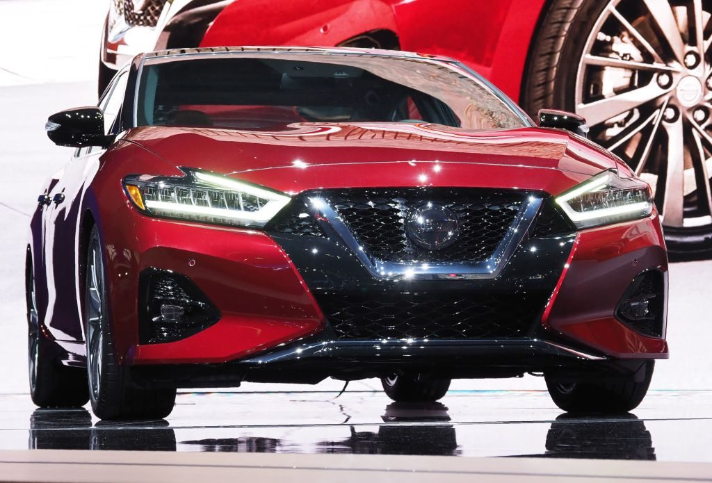 The 2019 Nissan Maxima is displayed at AutoMobility LA, the trade show ahead of the LA Auto Show