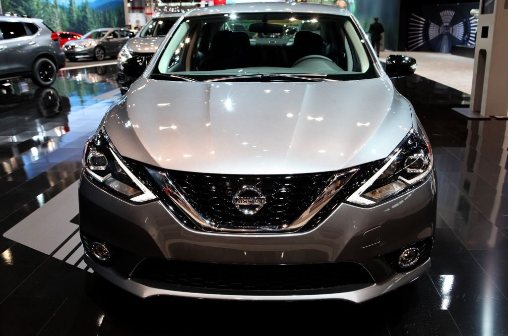 2017 Nissan Sentra is on display at the 109th Annual Chicago Auto Show