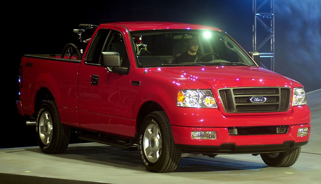 Ford Motor Company showed off the all new 2004 F-150 pickup during a press conference at the North America International Auto Show