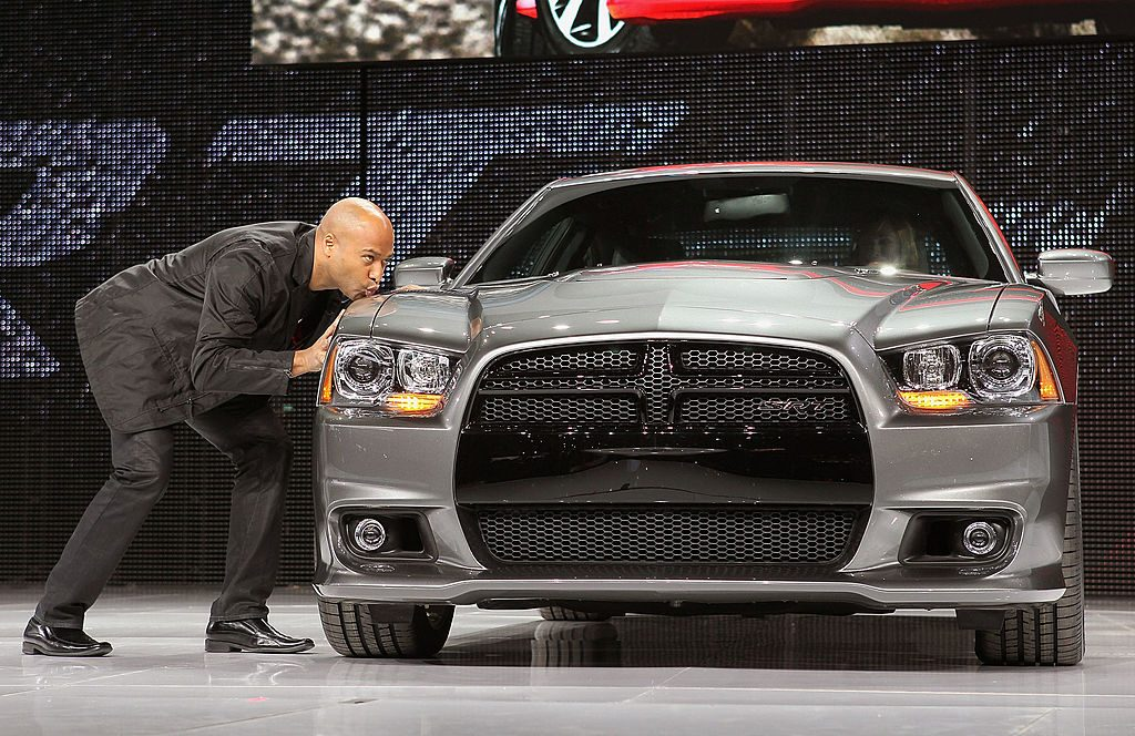 Ralph Gilles Kisses Dodge Charger