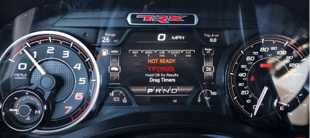 Ram Rebel TRX pickup instrument cluster