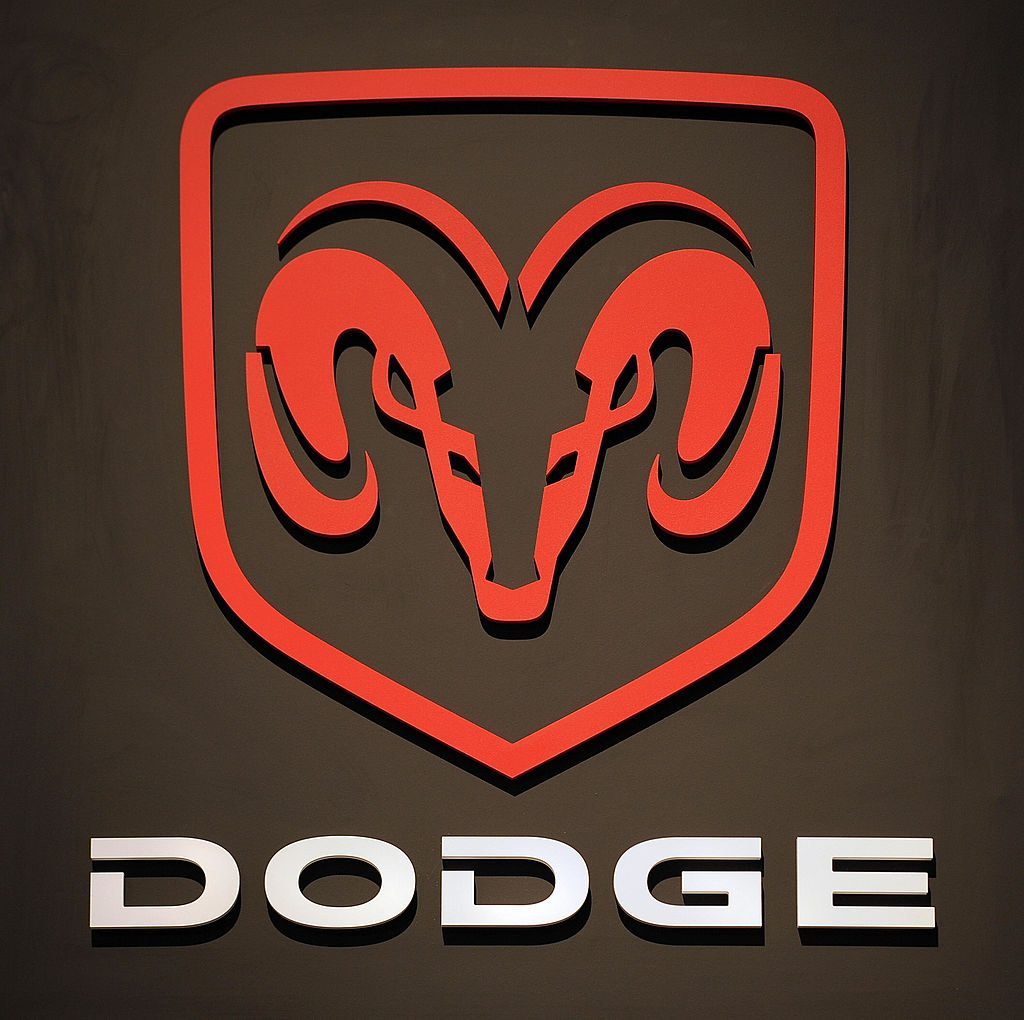 A red Dodge logo