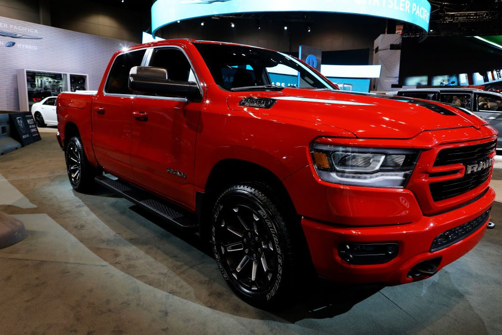 A special edition Ram 1500 on display at an auto show