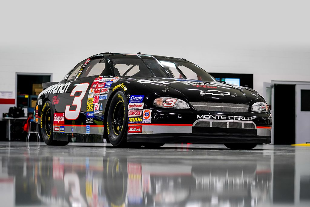 Black and Silver Goodwrench Chevrolet driven by Dale Earnhardt Sr.
