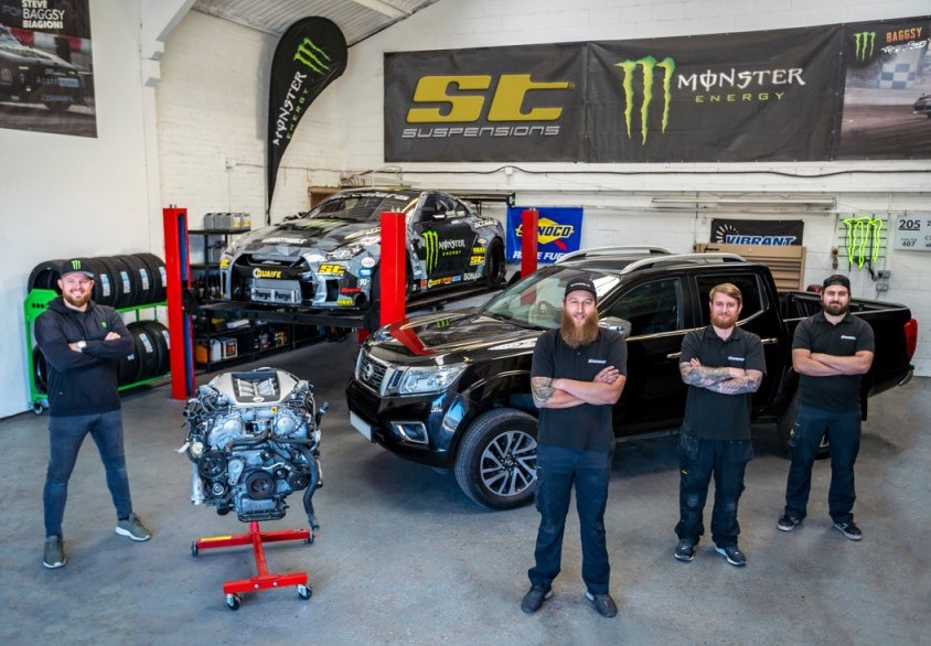 SB Motorsports crew with basis for Narvana GT-R