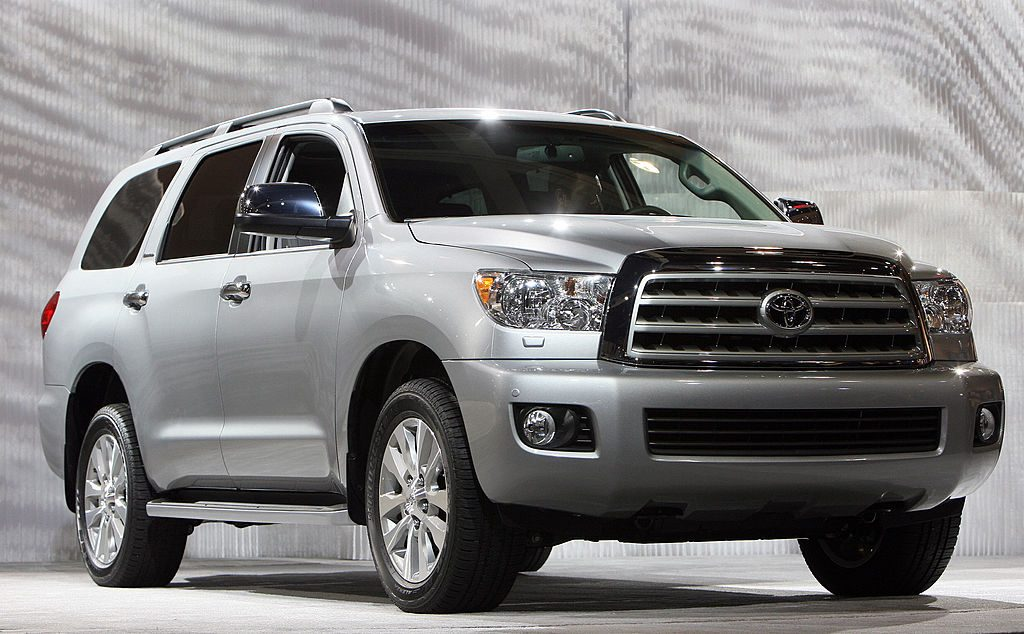 The new Toyota Sequoia is unveiled during the Los Angeles Auto Show
