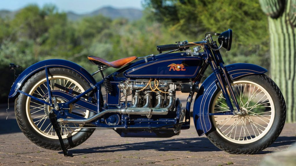 Steve McQueen's blue four-cylinder 1922 Ace Four