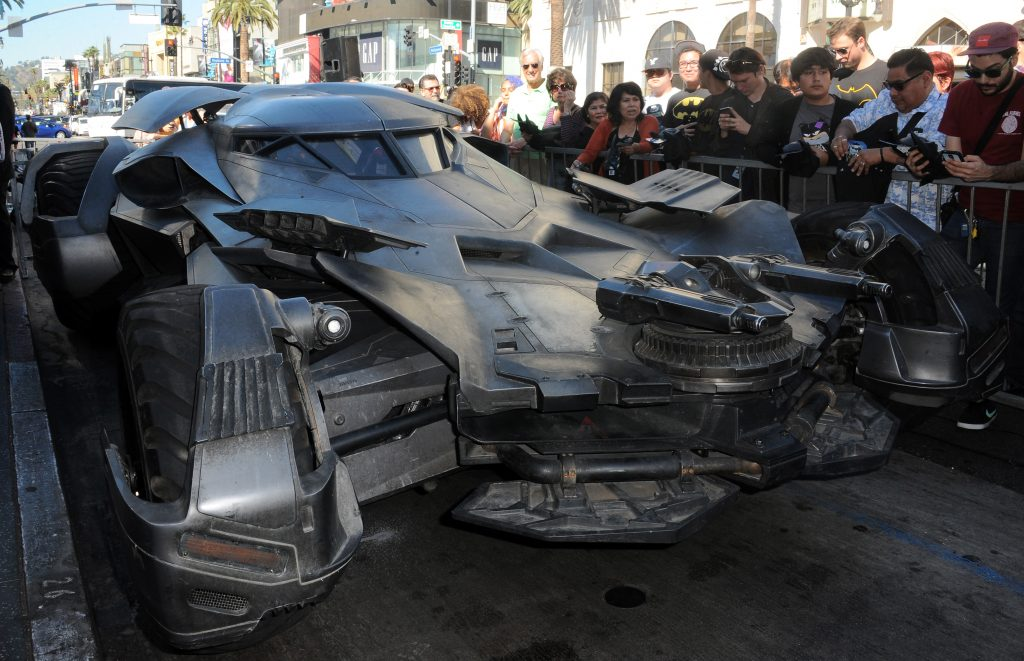 The Batmobile featured in the film 'Superman v Batman: Dawn Of Justice'