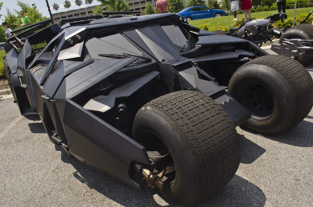The Tumbler Batmobile on display