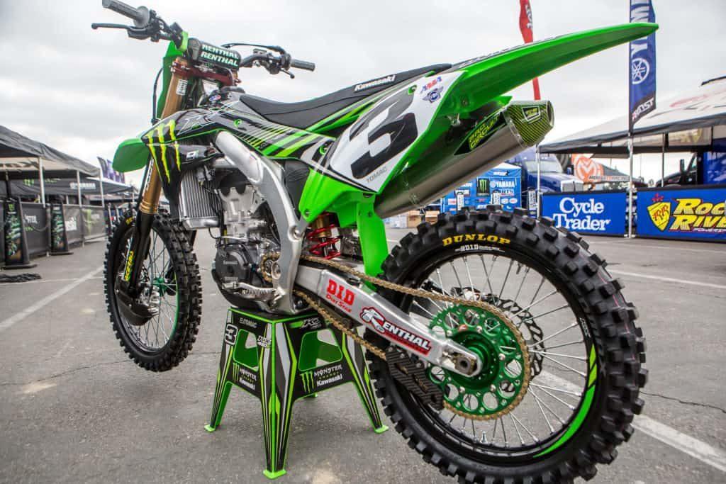 Eli Tomac's green Kawasaki kx450