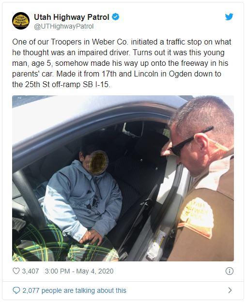Utah Highway Patrol Tweet