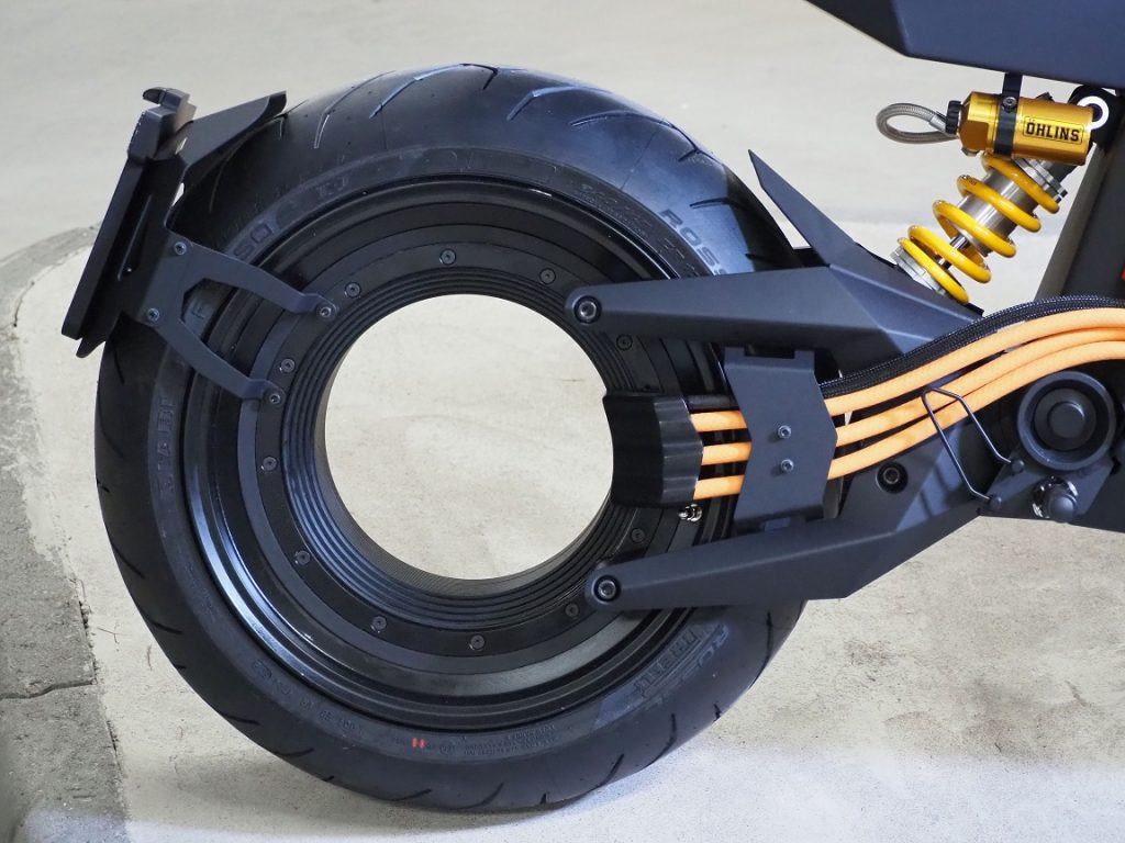 Verge TS rear wheel detail