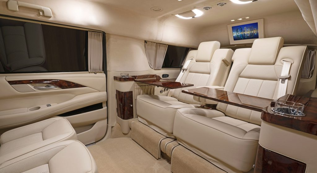 Pristine, plush interior of Tom Brady's Escalade