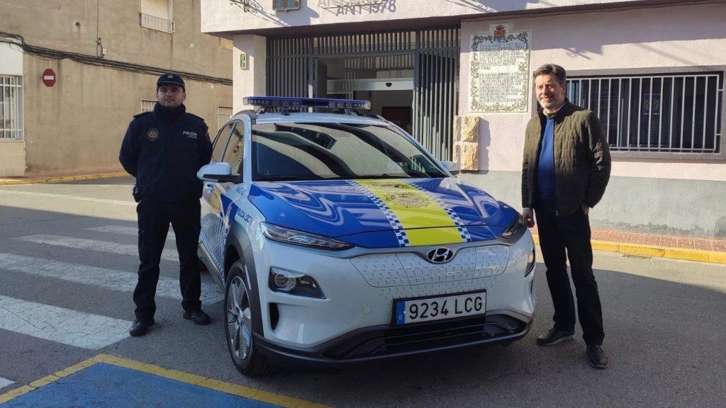 Hyundai Kona Electric police car in Spain