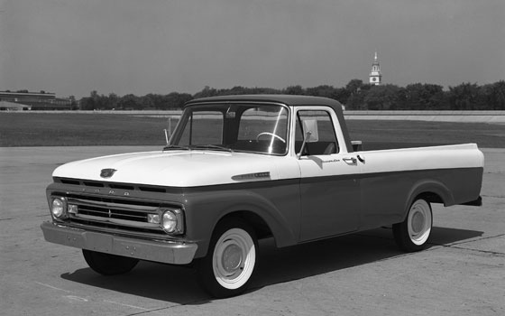 two-tone 1961 Ford F-series Unibody pickup