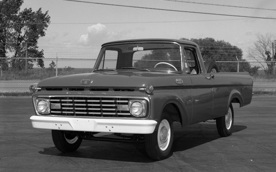 Ford's F-Series unibody pickup in 1961